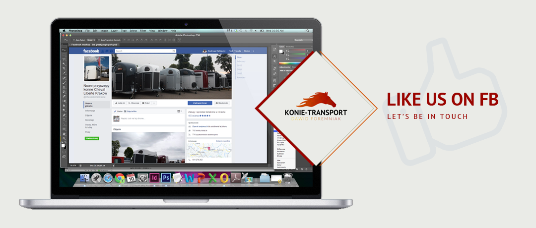 Like Konie Transport on Facebook
